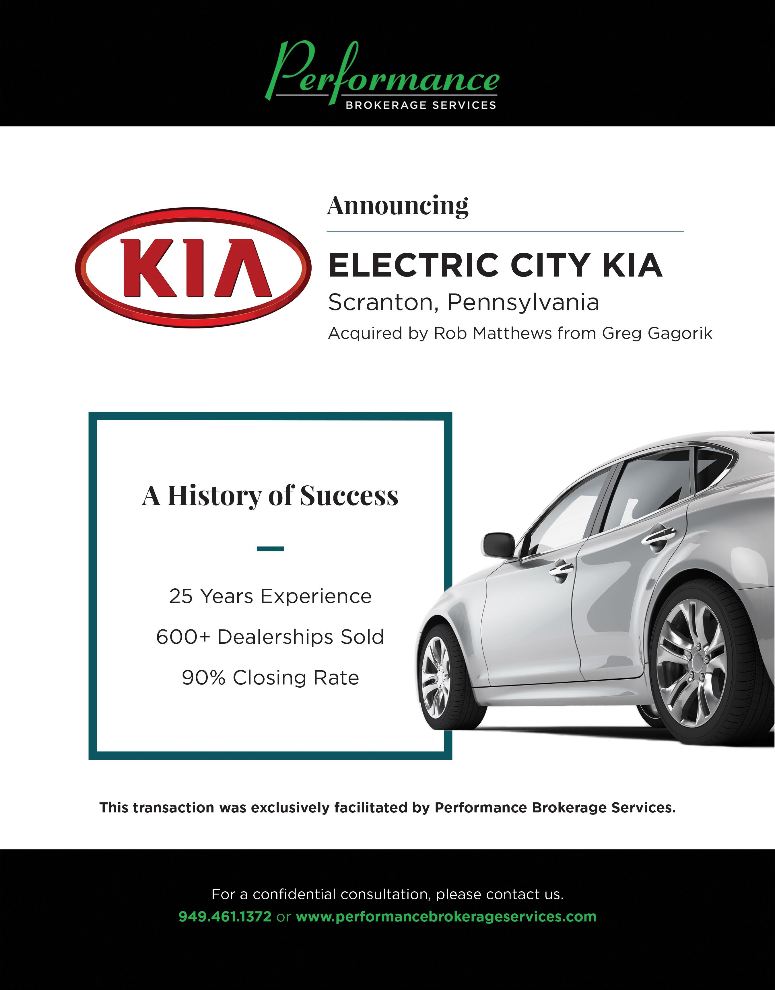 Greg Gagorik S Electric City Kia In Scranton Pennsylvania