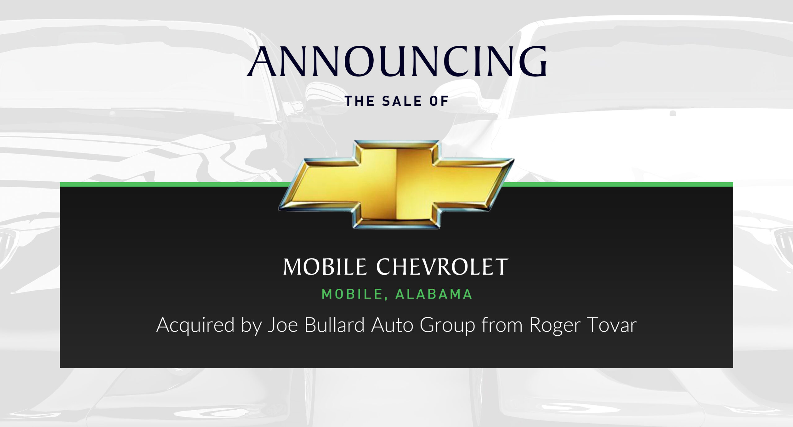 Joe Bullard Auto Group Buys Chevrolet In Mobile Alabama Performance Brokerage Services